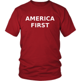 America First T Shirt, Support Trump, Large Caps