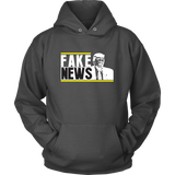Fake News, Trump Hoodie, Cartoon Style