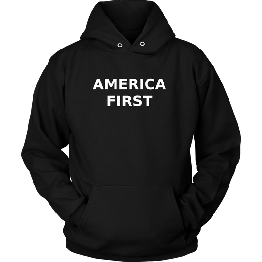 America First Hoodie, Support Trump, Large Caps