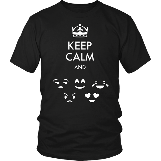 Keep Calm, Emoji Tshirt