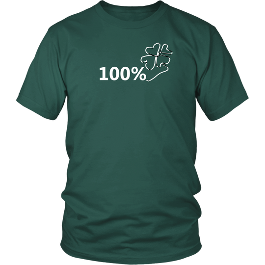 St. Patricks Day 100% Lucky Clover T Shirt