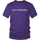 Cat Whisperer, Slogan TShirt, Humorous Shirt