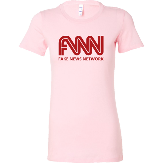 Fake News Network, Bella Women T Shirt, Anti Trump Tee