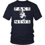 Fake News, Trump Tee, Trump Head Two Block Rows