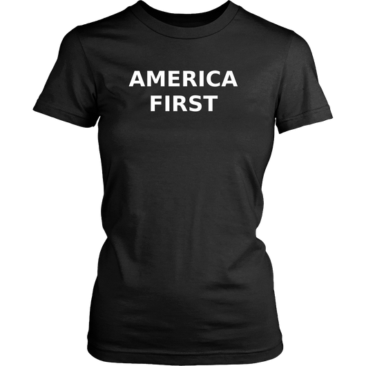America First, Large Caps, T Shirt for Women, Support Trump, Slogan TShirt, Funny Shirt
