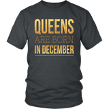 Queens are Born in December T-Shirt 1