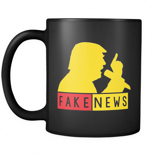 Fake News Trump Silhouette Gold