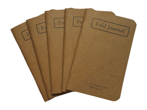 10 Pack of Fold Journals - Free Shipping!