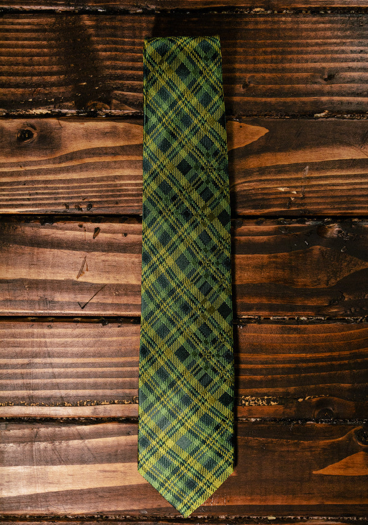 Baylor Plaid Necktie