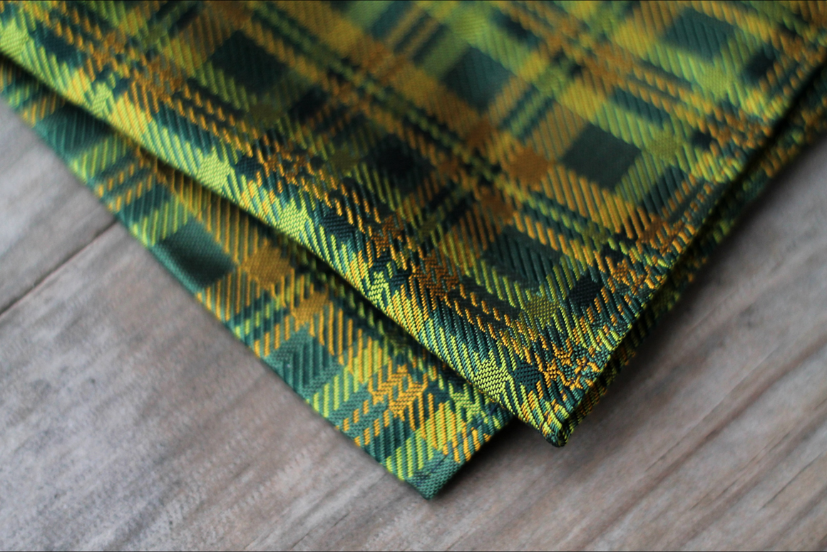 The Official Baylor Plaid Pocket Square
