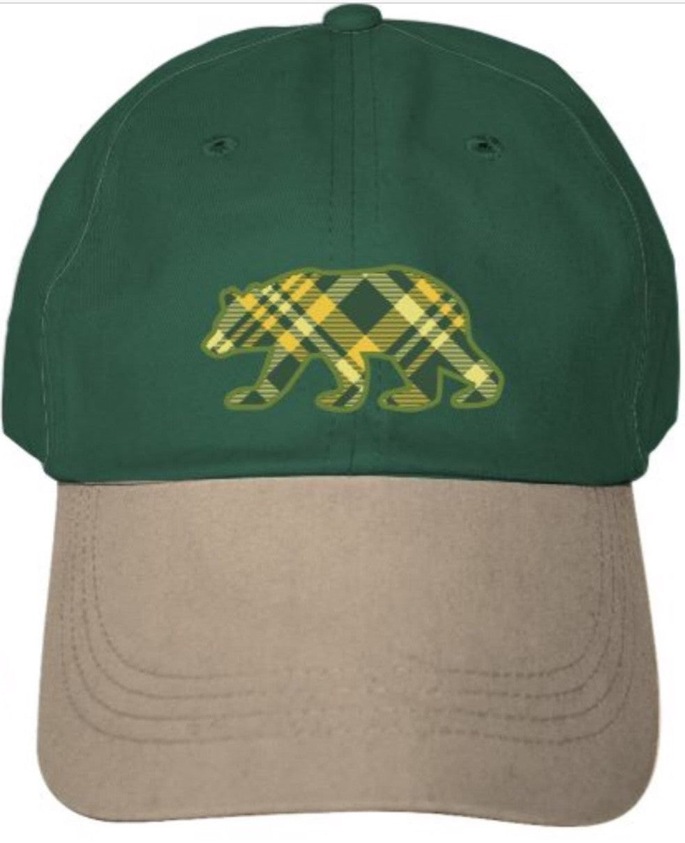 Plaid Bear Cap