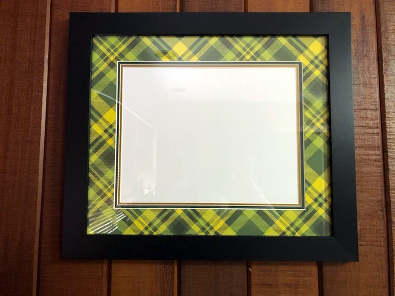 Plaid Diploma Frame