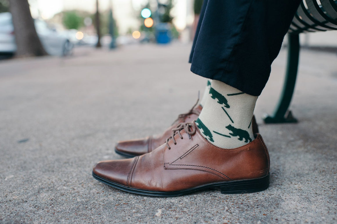 Dapper Bear Sock Collection- Khaki Sock