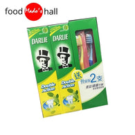 Darlie Double Action Original Strong Mint Fluoride 250g x2 + 2 Toothbrushes - Mado's Food Hall