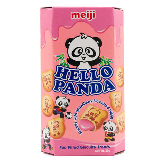 Meiji Hello Panda Strawberry Biscuits 50g - Mado's Food Hall