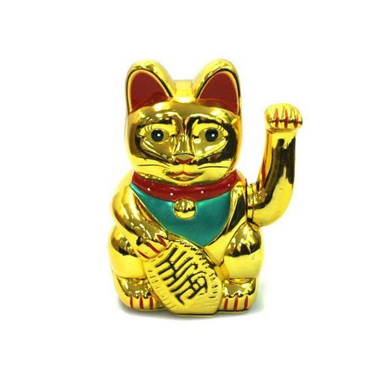 Lucky Fortune Cat Neko waving hand - Gold - Size 7