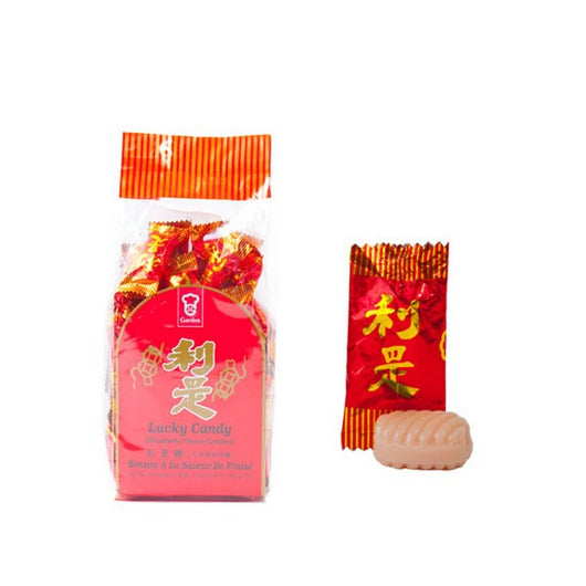 Garden Lucky Candy (Strawberry Candy) 350g (嘉頓利是糖) - Mado's Food Hall