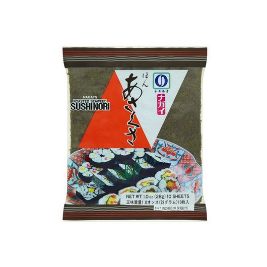 MEGA PACK X10 NAGAI'S ROASTED SUSHI NORI SEAWEED 100 SHEETS (28g X10) - Mado's Food Hall