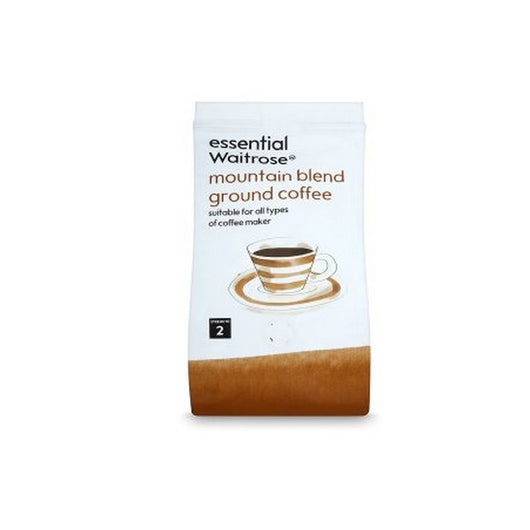Essential Waitrose mountain blend ground coffee 227g - Mado's Food Hall