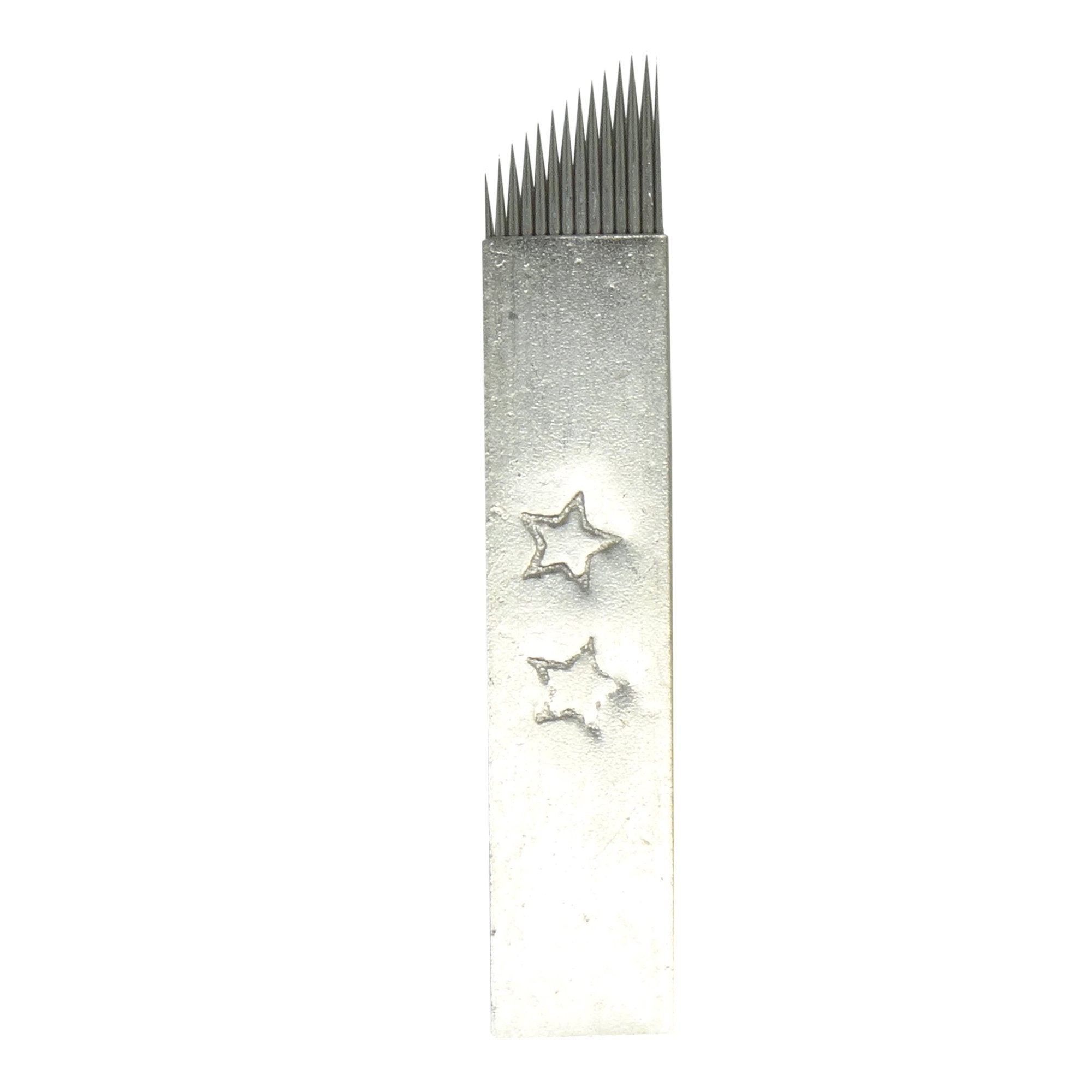 Microblading Needles | 2 Star Steel Cover - #14CF - Microblade Supplies
