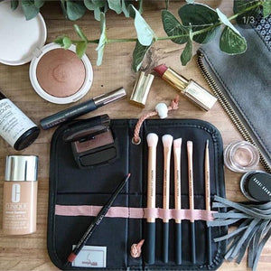 Eye Make Up PRO Brush Set by AnnaLisa LONDON | Rose Gold 5 Individual Brushes - For Salon Re-sale - Microblade Supplies