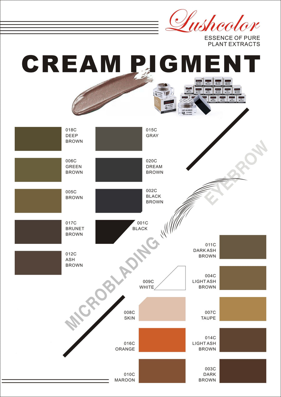 Microblading Pigment Lush Colours - Microblade Supplies