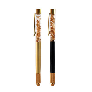 Microblading Pen | Black and Gold - Crystals - Microblade Supplies