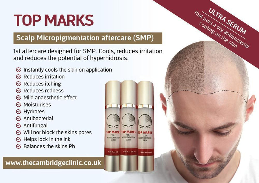 TOP MARKS | Scalp Micropigmentation Aftercare | ULTRA SERUM - Microblade Supplies