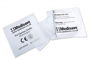 MEDISAVE Pre-Injection Swabs 70% IPA Alcohol Wipes Microblading Tattoo Medical