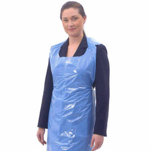 Pack of 100 Disposable Aprons Waterproof Polythene Blue | Salon Microblading PMU - Microblade Supplies