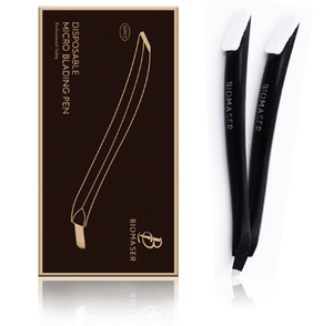 Disposable Microblading Hand Tool | Curve Shape | U Shape - Black - With Micro Brush - Microblade Supplies