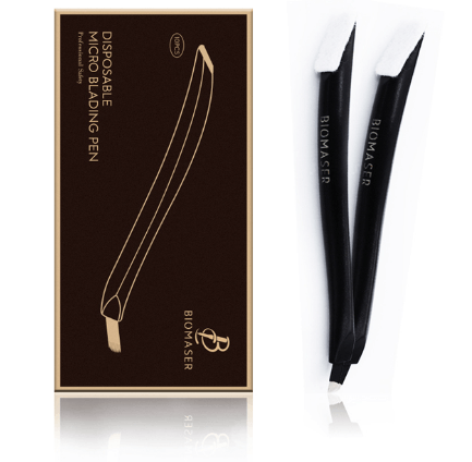 Disposable Microblading Hand Tool | Curve Shape | U Shape - Black - With Micro Brush