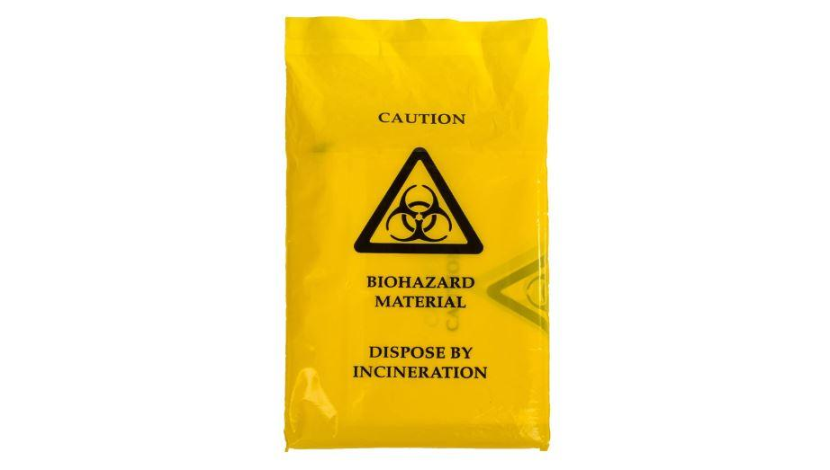 Yellow Biohazard Bags | 35cm x 20cm | Self Seal Clinical Disposal | PPE - Microblade Supplies