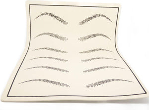 Synthetic Latex Practice Skin (Blank / Eyebrow shapes) - Microblade Supplies