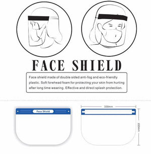 Full Face Mask Visor Shield PPE Plastic Guard Safety | 100% Anti Fog - Microblade Supplies