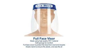 Full Face Mask Visor Shield PPE Plastic Guard Safety