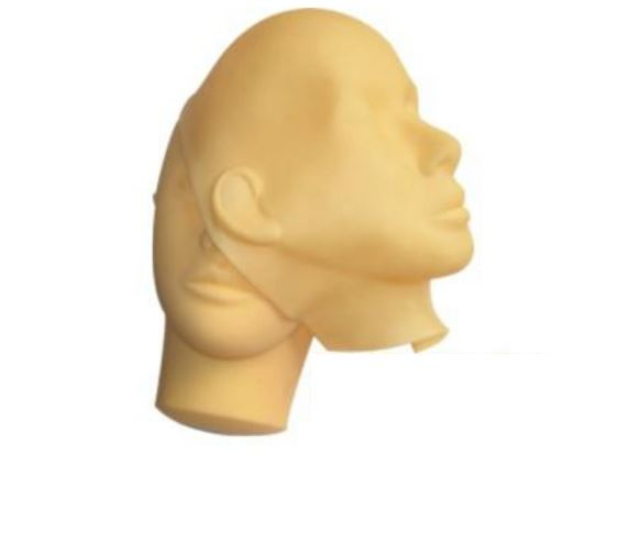 SPMU Tattoo Practice Skin Model Head Mask - Microblade Supplies