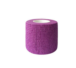 Self-adhesive Non-woven Elastic Bandage Grip Wrap Disposable Bandage | Purple - Microblade Supplies