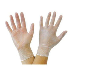 Disposable Vinyl Gloves Powder Latex Free | Clear | PPE - Microblade Supplies