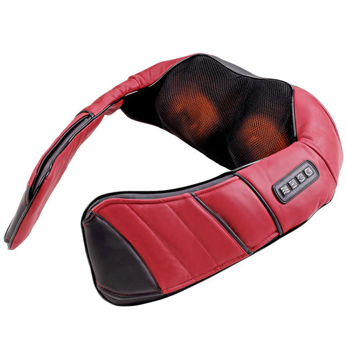 Tekjoy Shiatsu Kneading Massage Pillow - Red