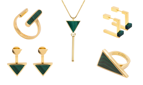 Malachite and Gold Jewellery