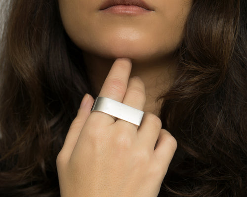 Double Finger Ring Silver