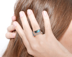 Edge Ring Silver