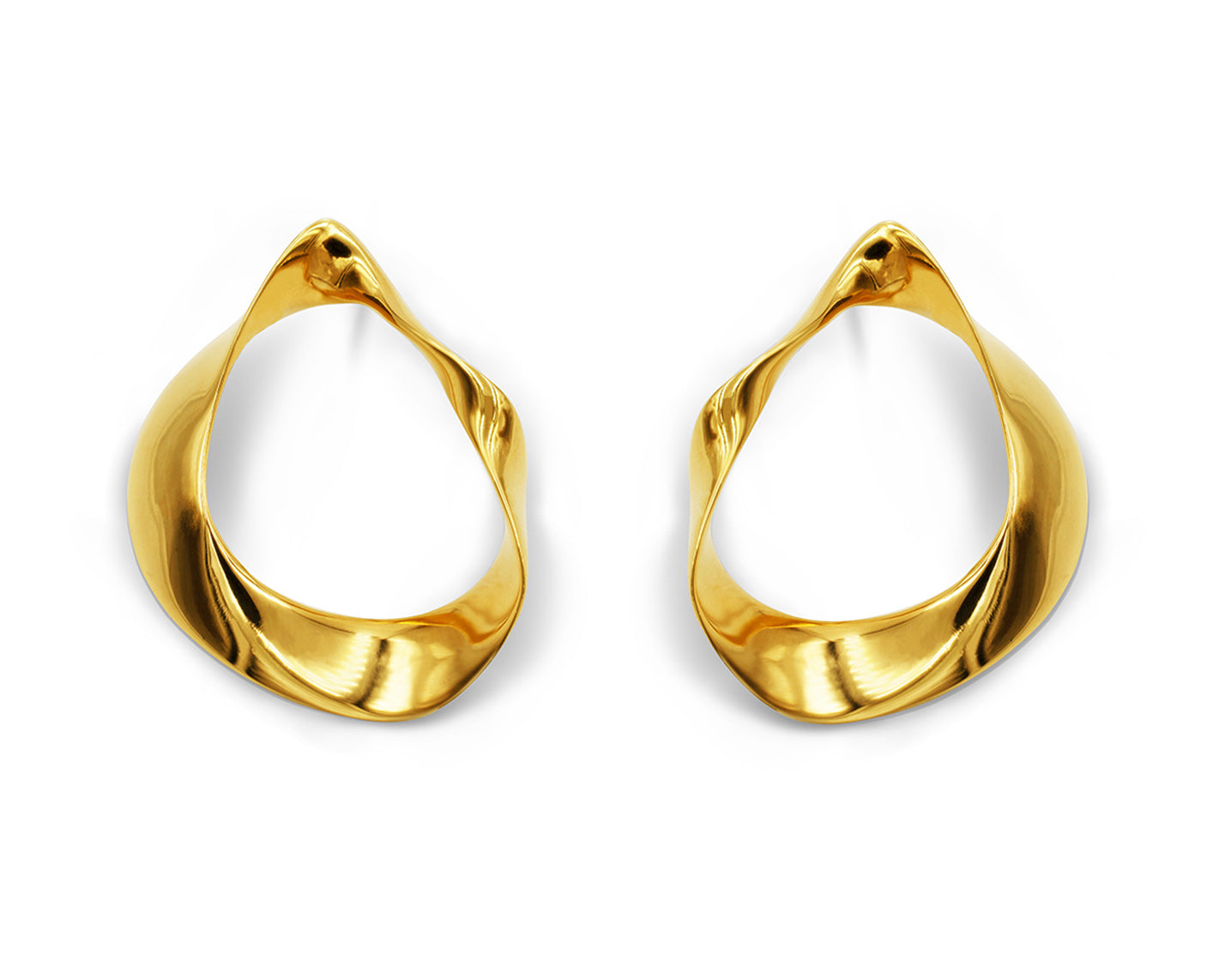 Fluid Earrings Gold