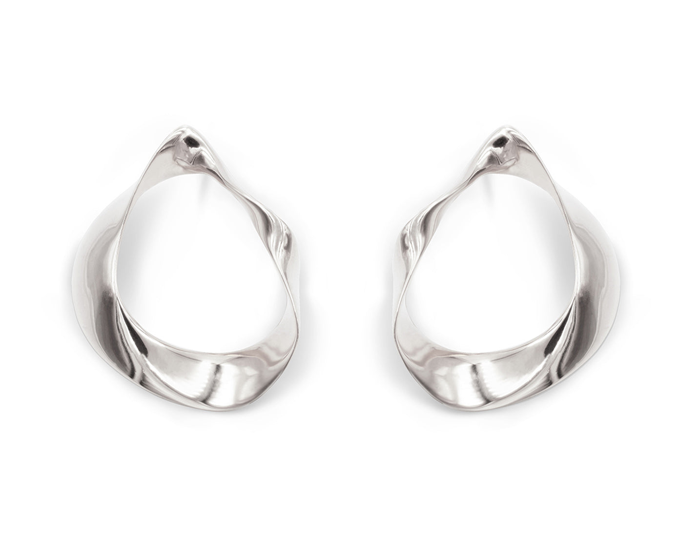 Fluid Earrings Silver