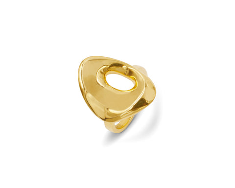 Double Finger Ring Gold