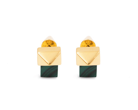 Quadrato Earrings Gold