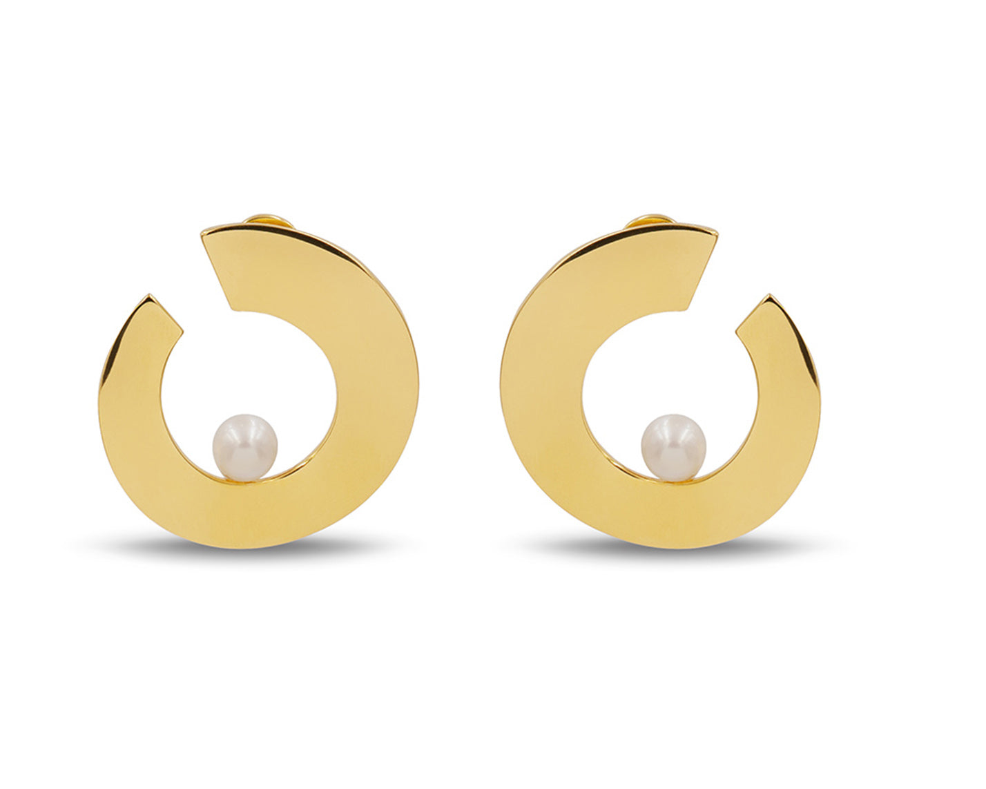 Onda Earrings Gold