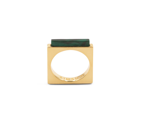 Quadrato Ring Gold