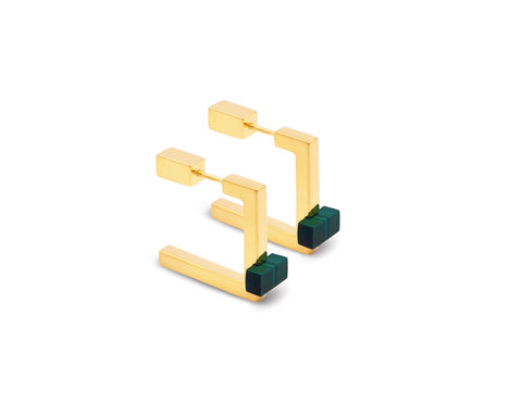 Triangolo Studs Gold